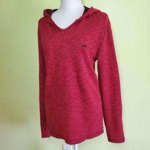 Vans lightweight red hoodie size M